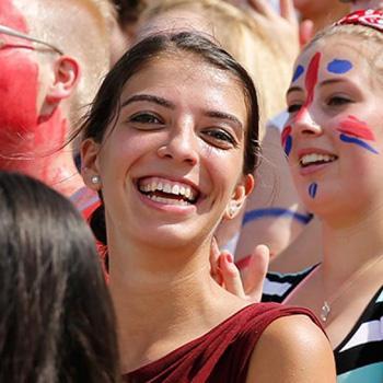 Crowd of Trent University students