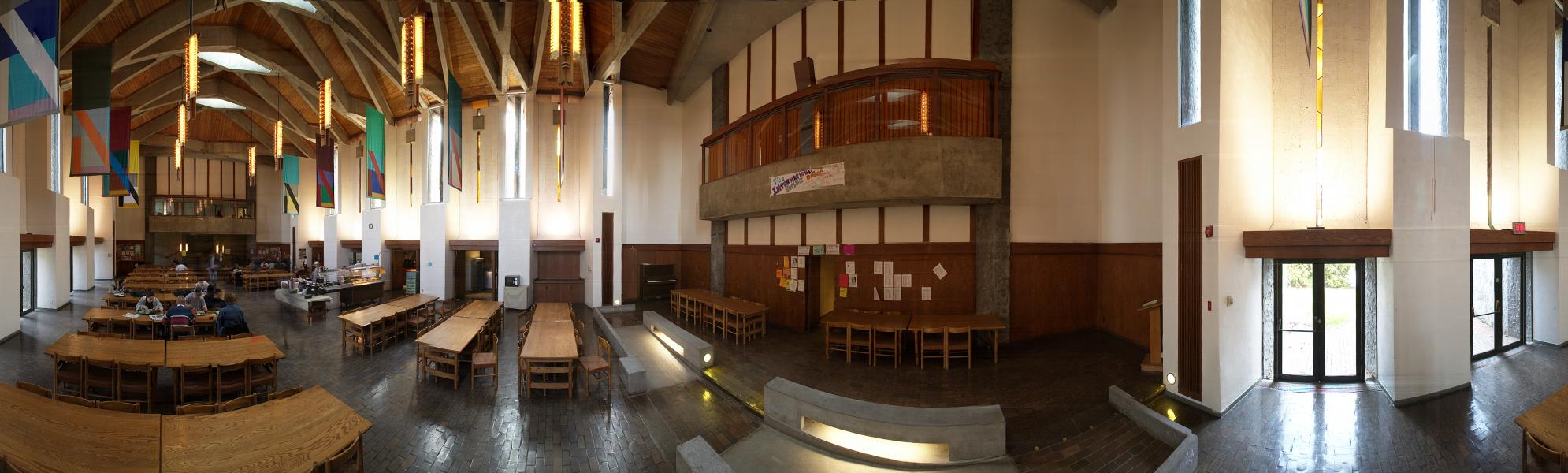 Panoramic photo of the Great Hall