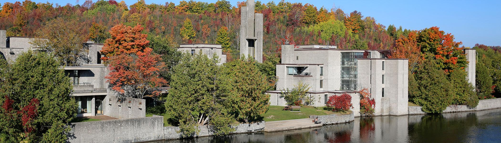 Riverside view of Champlain College