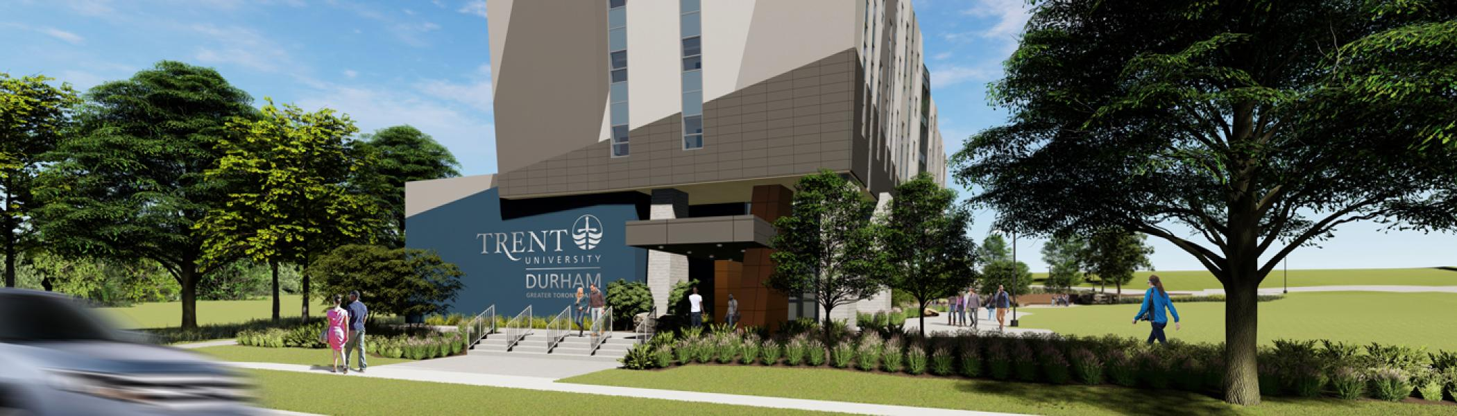 Trent University Durham GTA Expansion west view rendering.