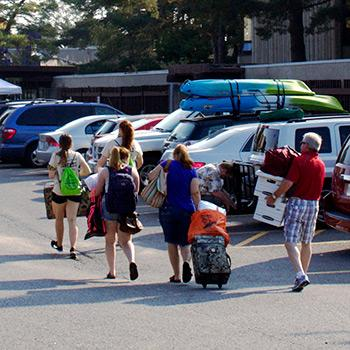 Students moving out of Lady Eaton College