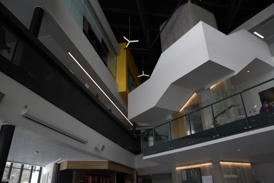 Picture of the top levels of the student centre