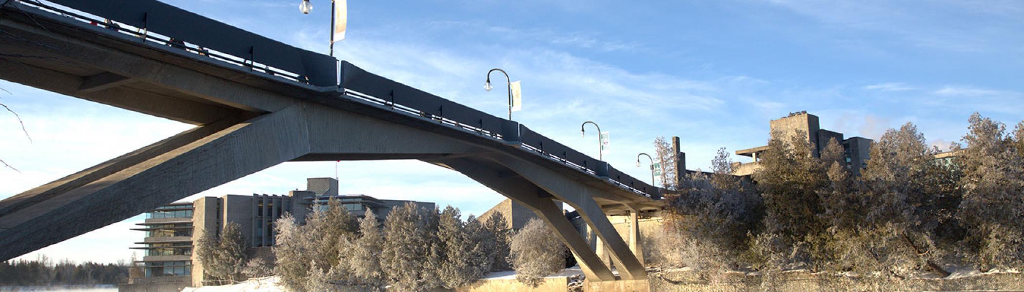 View of Faryon Bridge from beneath