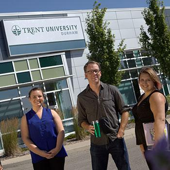Trent university durham staff and students  smiling to camera
