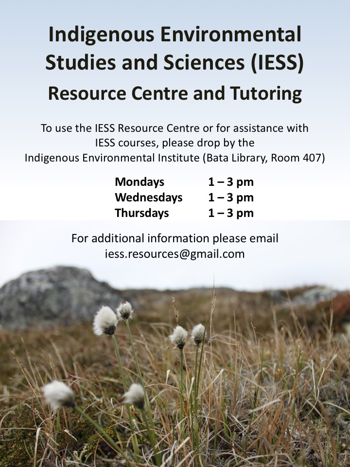 Indigenous Environmental Studies and Sciences Resource Centre poster