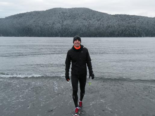 Mr. Cannata ran straight into the Pacific Ocean off the shore of Port Renfrew