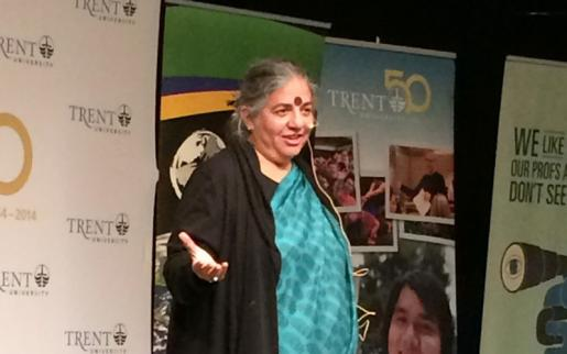 World-Renowned Environmentalist Dr. Vandana Shiva Visits Trent