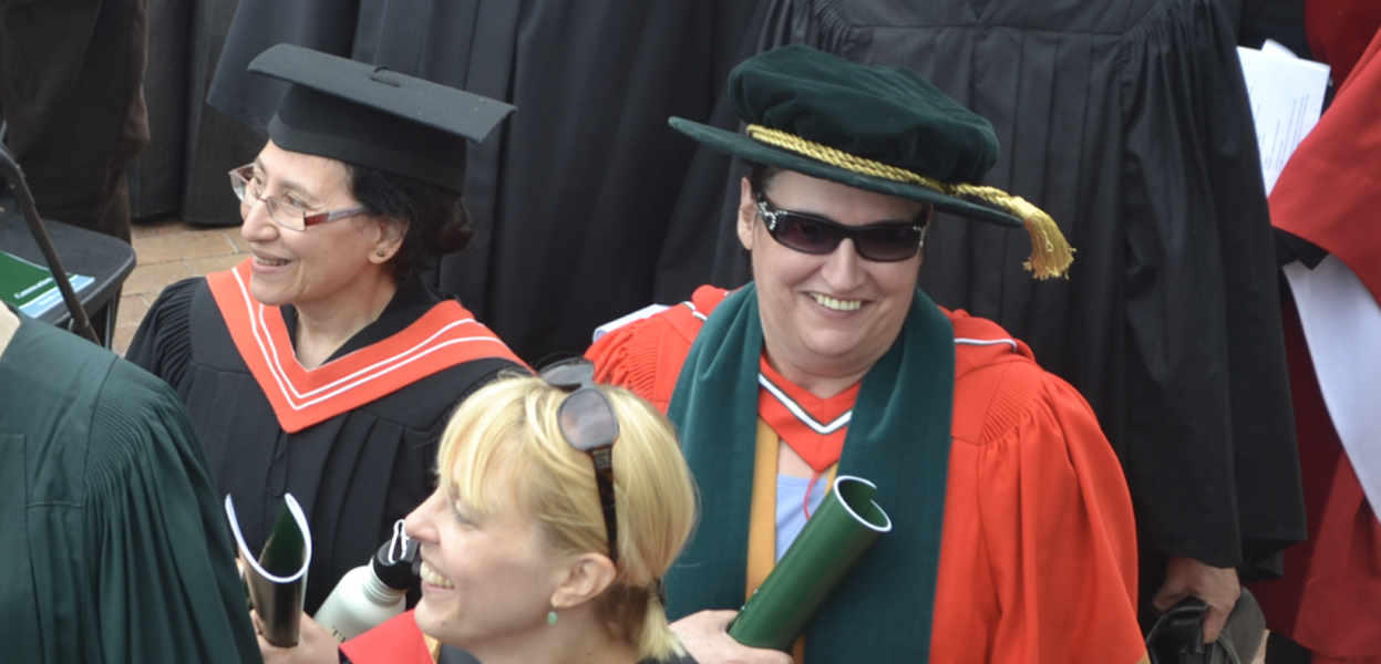Indigenous Studies Director walks in the convocation procession