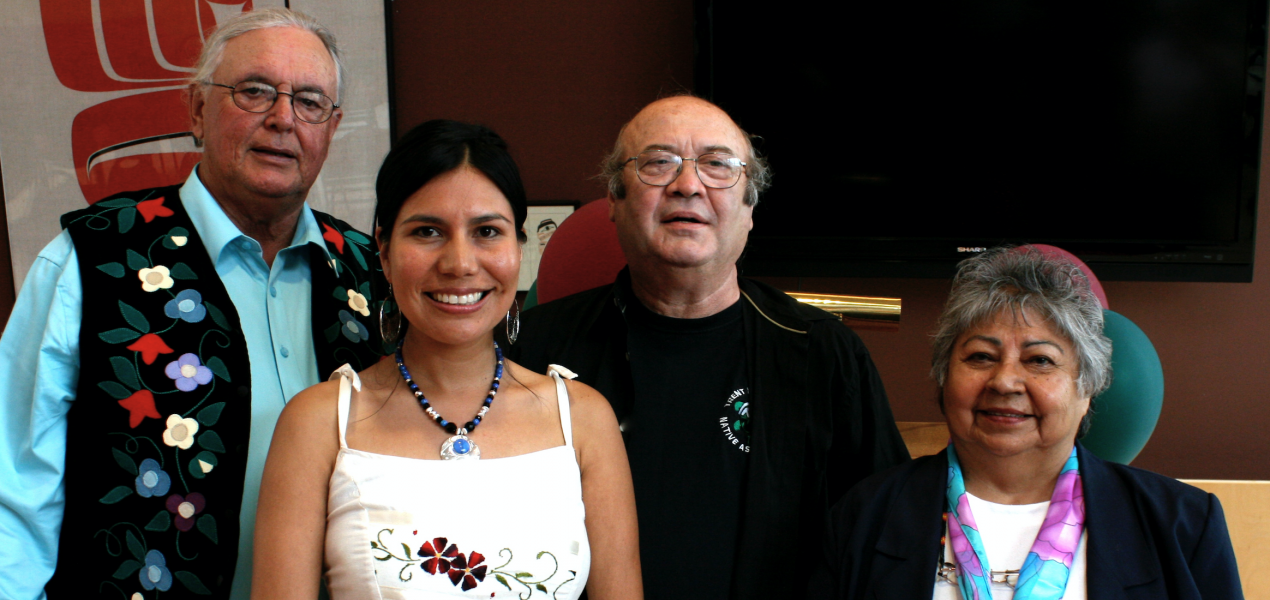 PhD Graduate Karyn Recollet with Elders