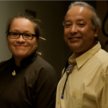 Manulani Meyer and Professor Dan Longboat at the Indigenous Knowledge Conference in 2010