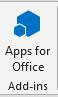 Icon for Apps for Office available in the ribbon on a calendar invitation