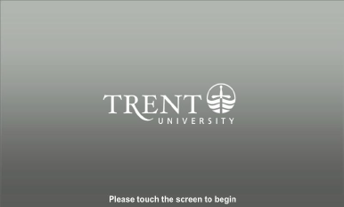 Screenshot of AV control panel start screen  with Trent logo