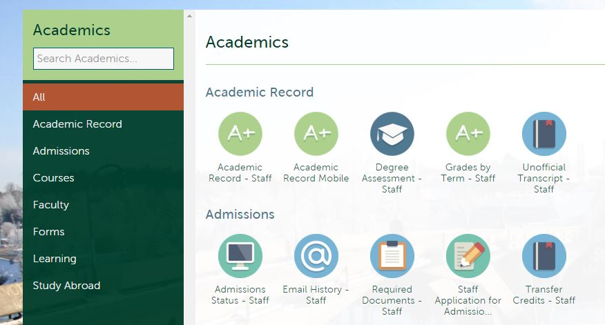 "Figure 2 - Academic ""All"" Selection"