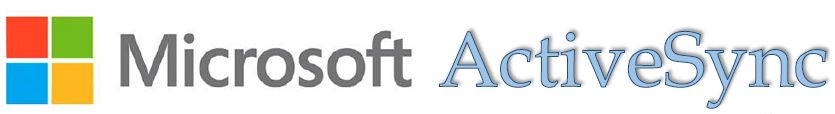 Microsoft and Active Sync logos