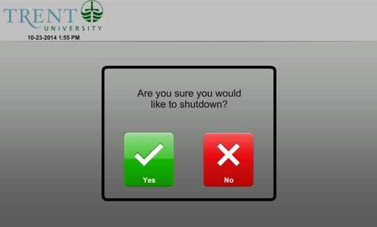 screenshot of  video conference shutdown prompt