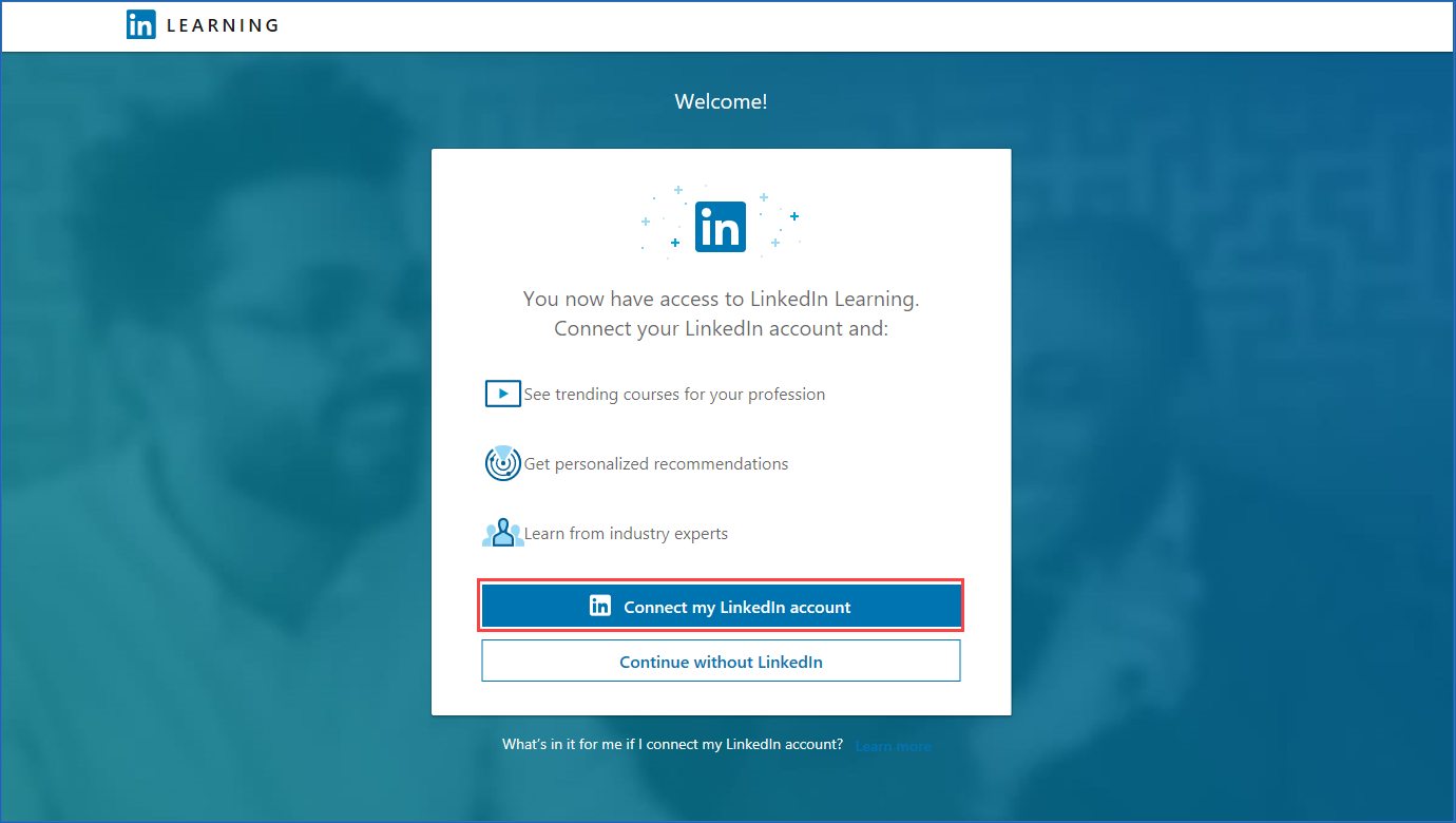 LInkedin learning prompt to connect linkedin