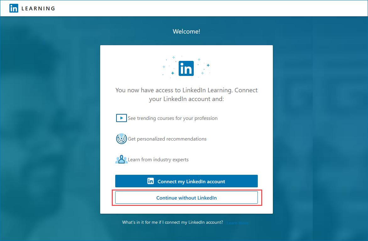 Setup LinkedIn LEARNING without a LinkedIn Account - Informa