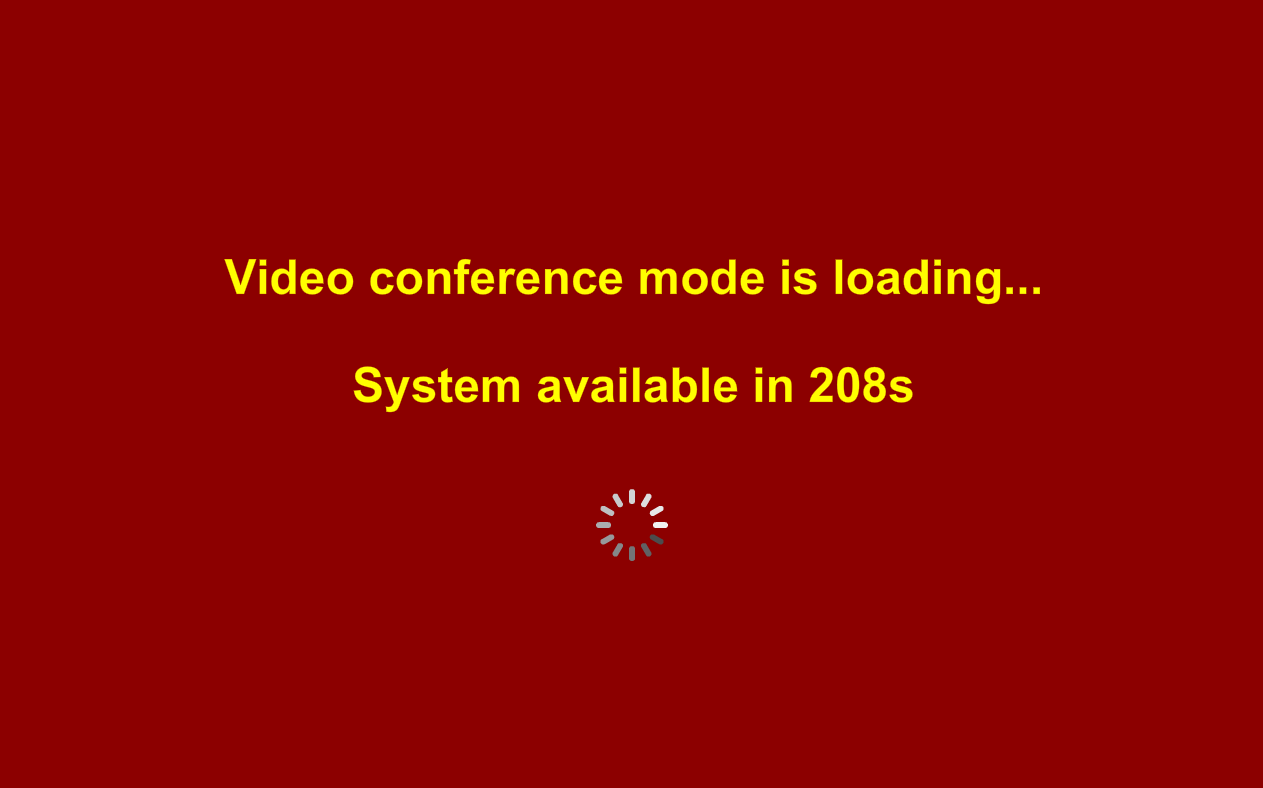 sc215 video conference loading count down timer