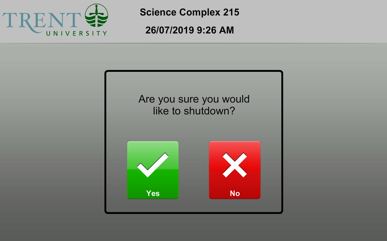 sc215 shutdown confirmation prompt