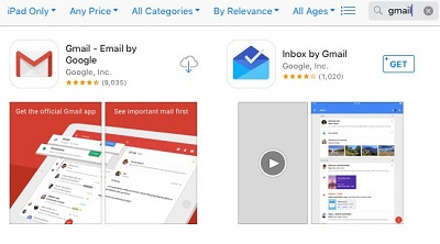 GMail app and Inbox App available for download in the App Store