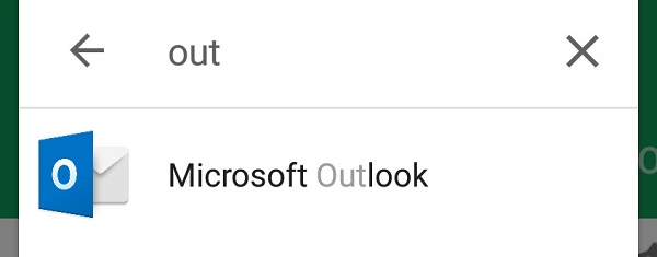 Microsoft outlook app icon - screen shot in online app store