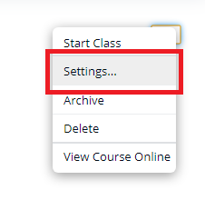 iclicker settings to select grade sync option