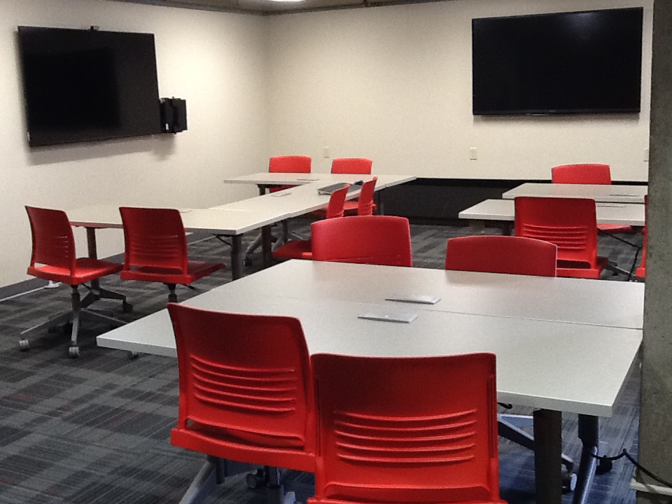 Picture of BL 201 classroom set up