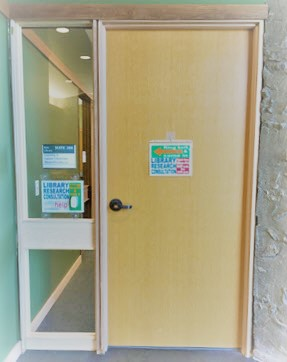 photo of the door to BL 208