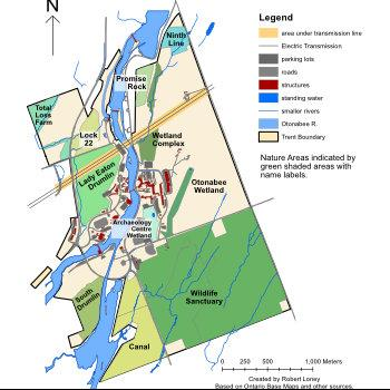 Trent Nature Areas map