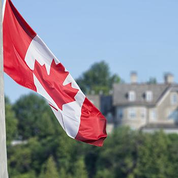 Canadian Flag- Trent University Political Studies