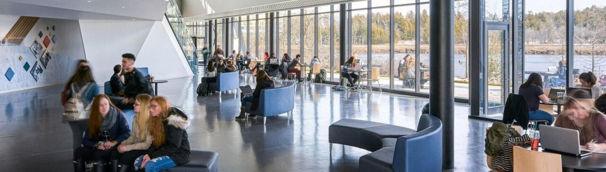 Interior atrium of the student centre