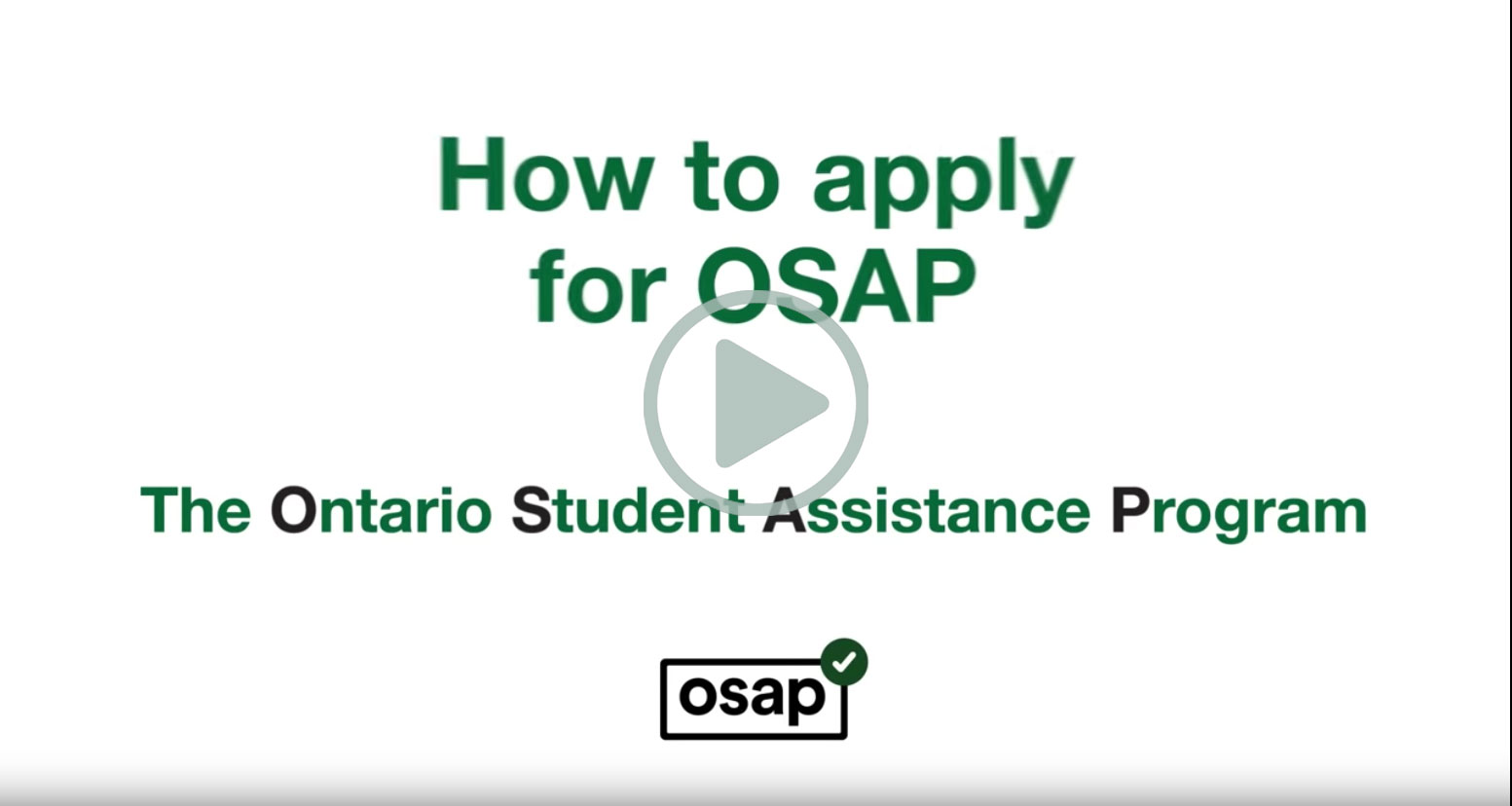 The thumbnail of the OSAP instruction video