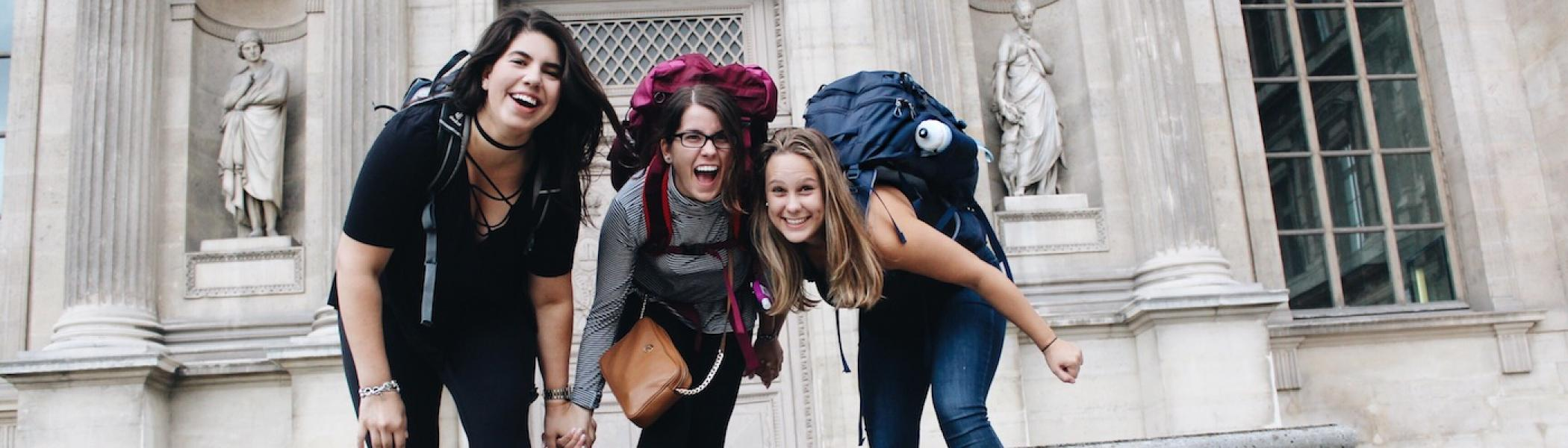 French students on the Nantes Year Abroad Program