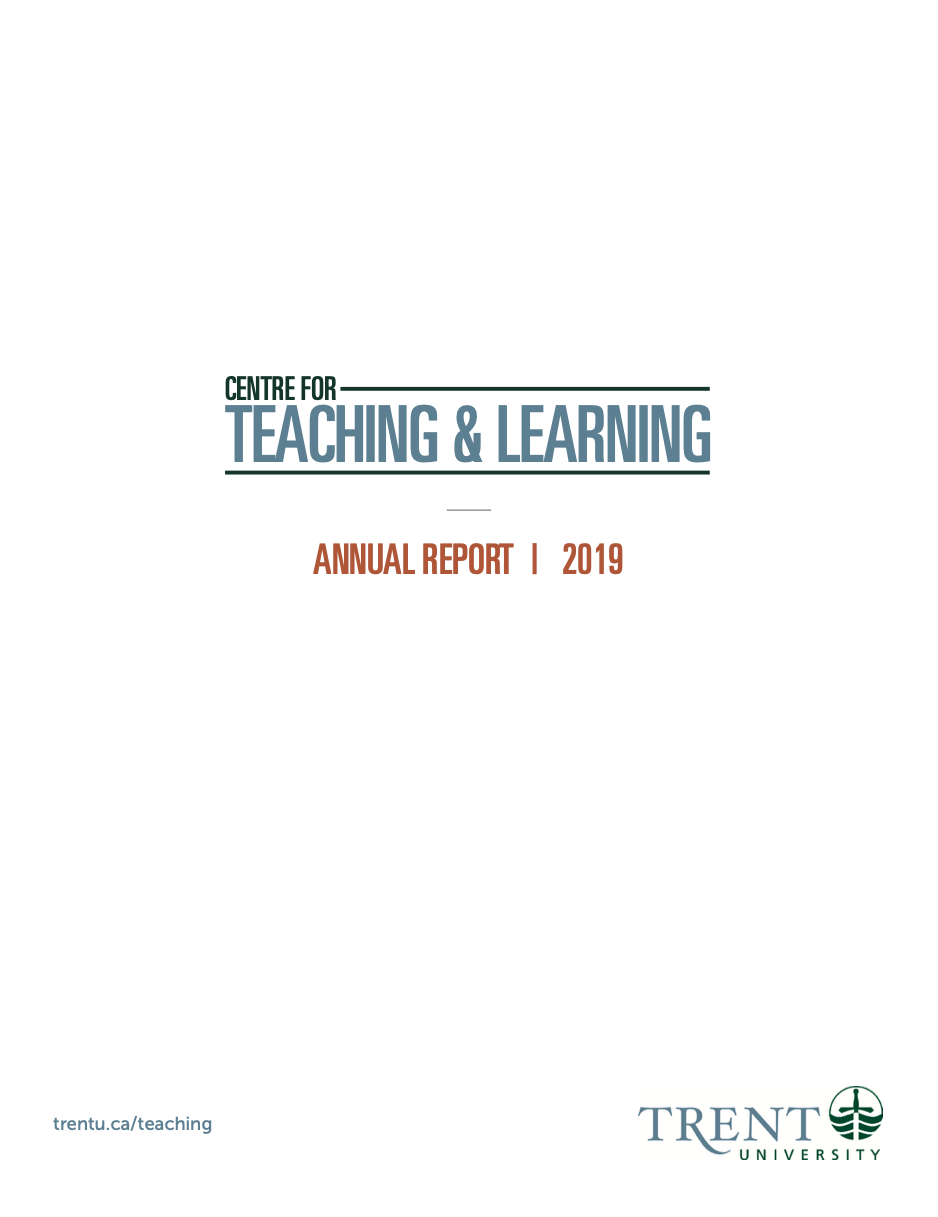 Centre for Teaching and Learning Logo, Annual Report 2019