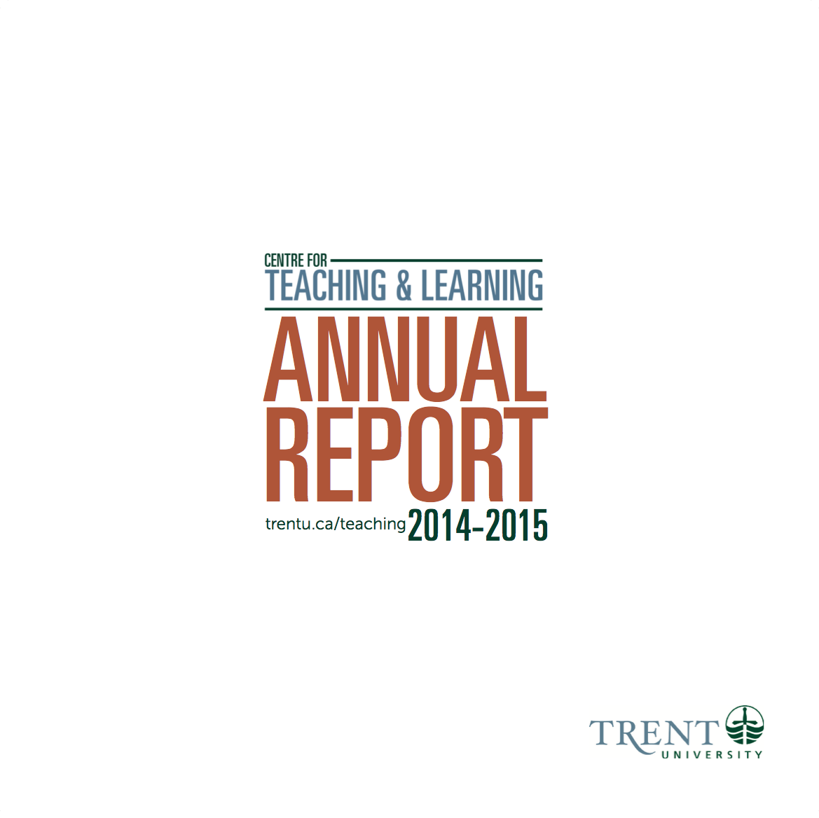 Image of Cover of the 2014-15 Annual Report, white background with orange lettering