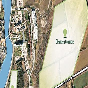 Aerial view of Cleantech Commons