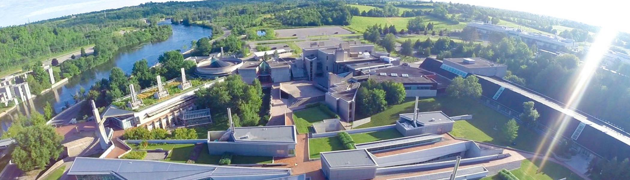 a birds eye view of the trent campus