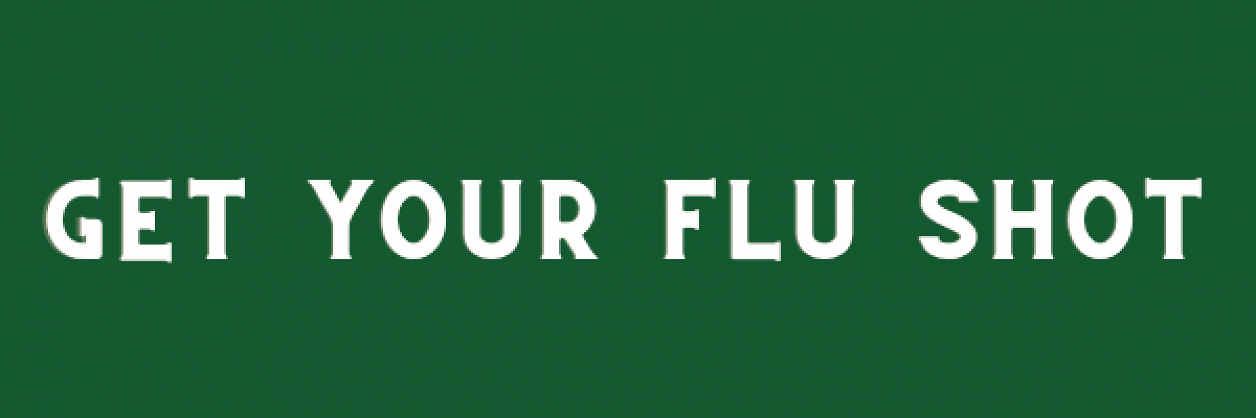 A title banner for the Flu Clinics information page.