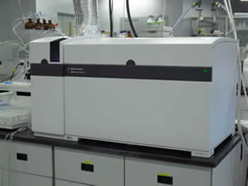 Image of the Agilent 8800 Triple Quadrupole ICP-MS, a high-tech instrument.