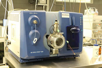 Image of the Applied Biosystems (QTrap 5500) LC-MS/MS lab instrument