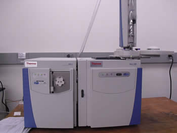 Image of the Thermo ISQ Trace 1300 GC-MS lab equipment.