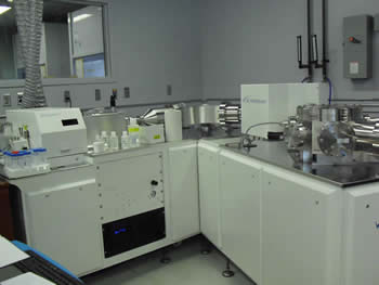 Image of the Nu Plasma2 ICP-MS, a high-tech MC-ICP-MS instrument.