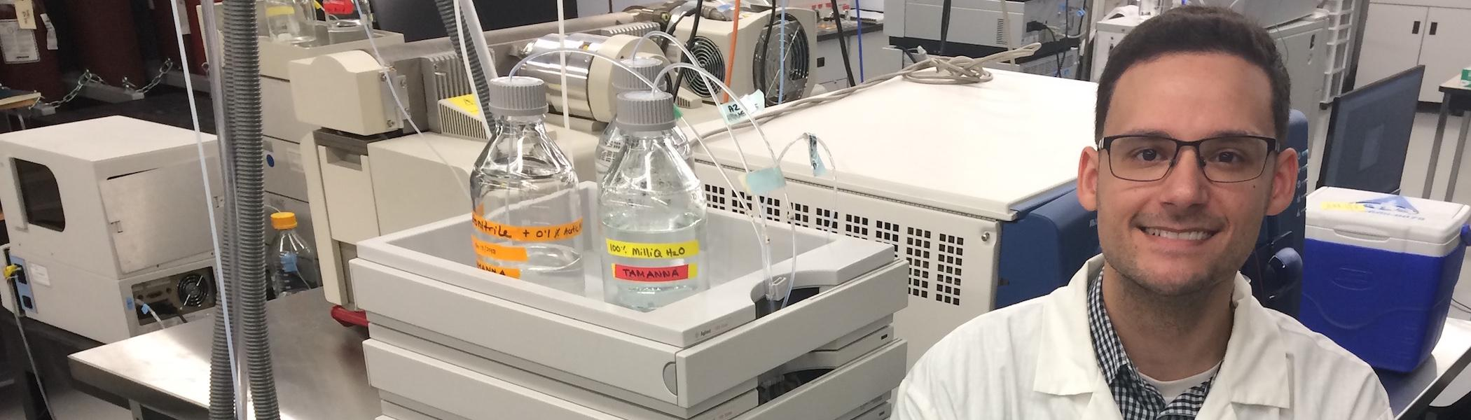 A researcher working in the Water Quality Centre